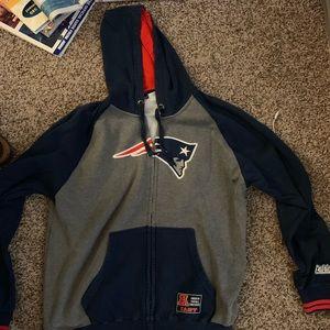 New England Patriots Men's Medium Zip Hoodie